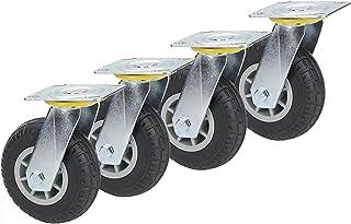 YJJT Zware wielen, rubberen zwenkwiel, stevig, slijtvast, grote elasticiteit, stille rotatie, flexibel, moeiteloos duwen e...