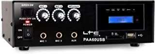 LTC PAA60USB Amplifier PA Karaoke USB SD MP3-12V