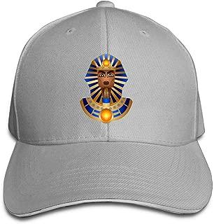 ONE-HEARTHR Adult Egypt Sphinx Cotton Lightweight Adjustable Peaked Baseball Cap Sandwich Hat Men Women