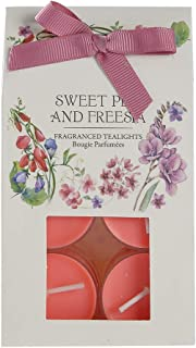 ANLUNOB Scented Candle Honeysuckle & Jasmine/Sweet Pea & Freesia/Wild FIG & Cassis/Tulip & Peony Fragrance Set Gift of 12 (Red)