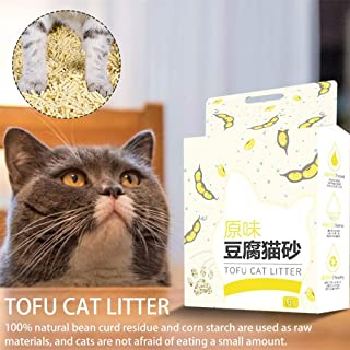 6L Plant Nature Tofu Cat Litter Biodegradable Fast Clumping Tofu Corn Cat Litter Odor Removal Water Absorption Well Pet Supplies