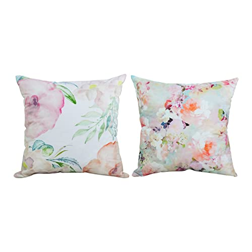 2bfbbc60454 BLEUM CADE Square Throw Pillow Case Decorative Cushion Cover Pillowcase  Cushion Case Peonies Throw Pillow Covers