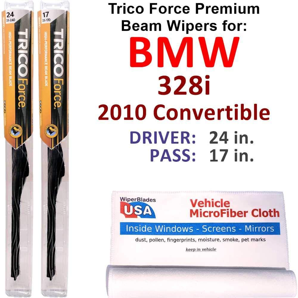 Premium Beam Wiper Blades for ! Super beauty product restock quality top! 2010 328i Convertible Tric Set Max 60% OFF BMW