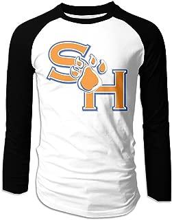 Mens Sam Houston State University Long Sleeve Raglan Baseball Tshirt