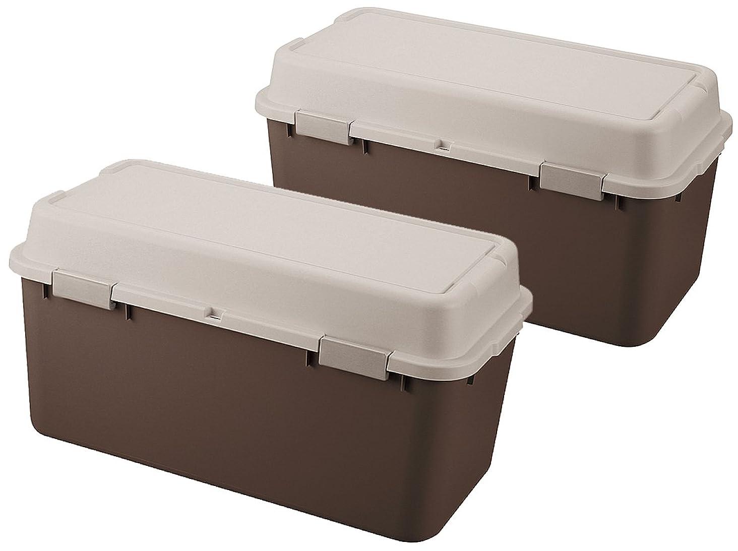 薄暗い品ピケJEJ ルームパック 2個組 880 収納庫 ストッカー ブラウン 880 (BR) 9504627
