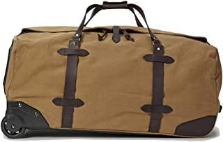Rugged Twill Rolling Duffle Bag (Large, Tan)