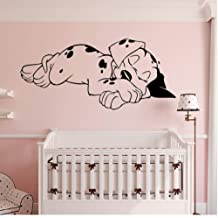 WYTTT Dream Cute Dog Wall Sticker for Kids Rooms, Bedroom Decoration for Family Room Mural Home Decoration Wall Sticker Stickers 50X23Cm Wall Sticker