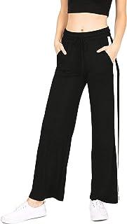 Ambiance Apparel Women's Juniors Wide Leg High Waist Yoga Pants