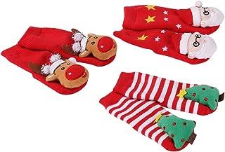 Toddler Christmas Socks, HAPYCEO Baby Boy Girl Thickened Anti-skid Xmas Gift Socks