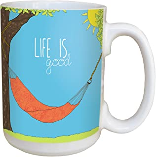 Tree-Free Greetings LM46677 Hammock Line 15 Ounce Ceramic Coffee Mug with Full Sized Handle