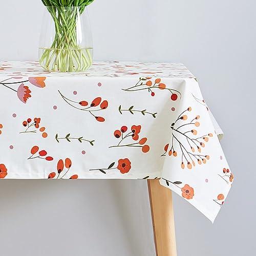 QIANG AF einweg-wasserdichter  Tuch tischtuch,Baumwolle leinen Tisch europ ches Garten rechteckig Tisch Tuch-A 130x180cm(51x71inch)
