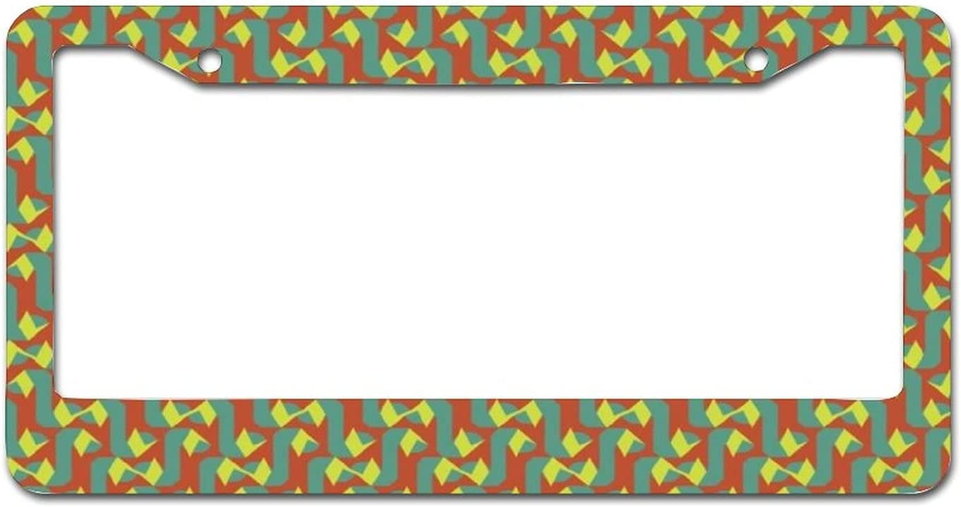 Green and Red Curve Pattern Metal cheap Car Co Plate Frame Sales results No. 1 Tag License