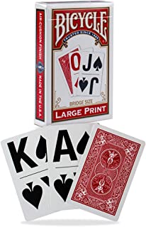Bicycle Large Print Playing Cards (Color May Vary)