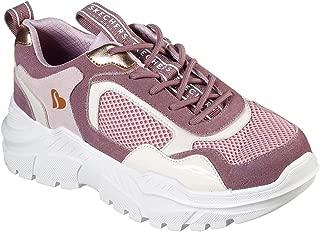 Skechers Womens B-Rad - Kicks Love Mauve Sneaker - 11