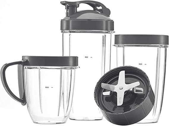 Cup and Blade Set for NutriBullet Replacement High Speed Blender Mixer System
