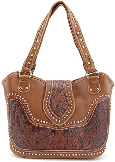 Concealed Gun Carry Purse Tooled Leather Handbag Western Style Purse