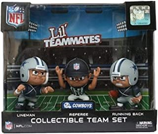 Lil' Teammates 3 Figurine Dallas Cowboys NFL Team Set (Pack of 3)