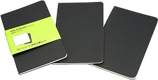 モレスキン ノート カイエ ジャーナル プレーン(無地) 3冊セット QP313 PKT ブラック