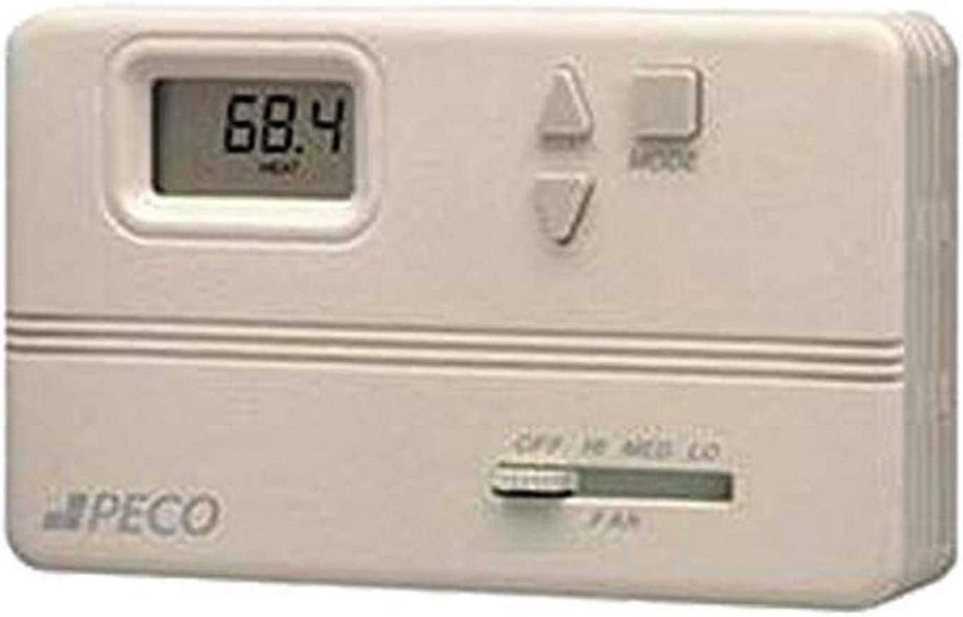Peco TA168-100 Omaha Mall Non-Programmable Fan Thermostat Line Coil Max 59% OFF Voltag