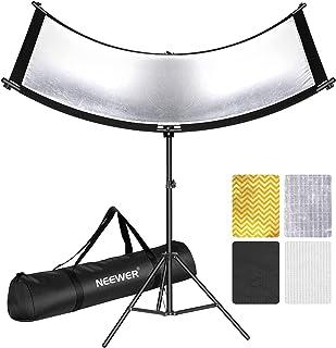 Nieuwere Clamshell Light Reflector met Draagtas en 2M Light Stand, 66x24 Inch Arclight Gebogen Ooglichtreflector voor Port...