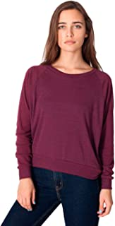 American Apparel Women Lightweight Tri-Blend Raglan Pullover Sweatshirt