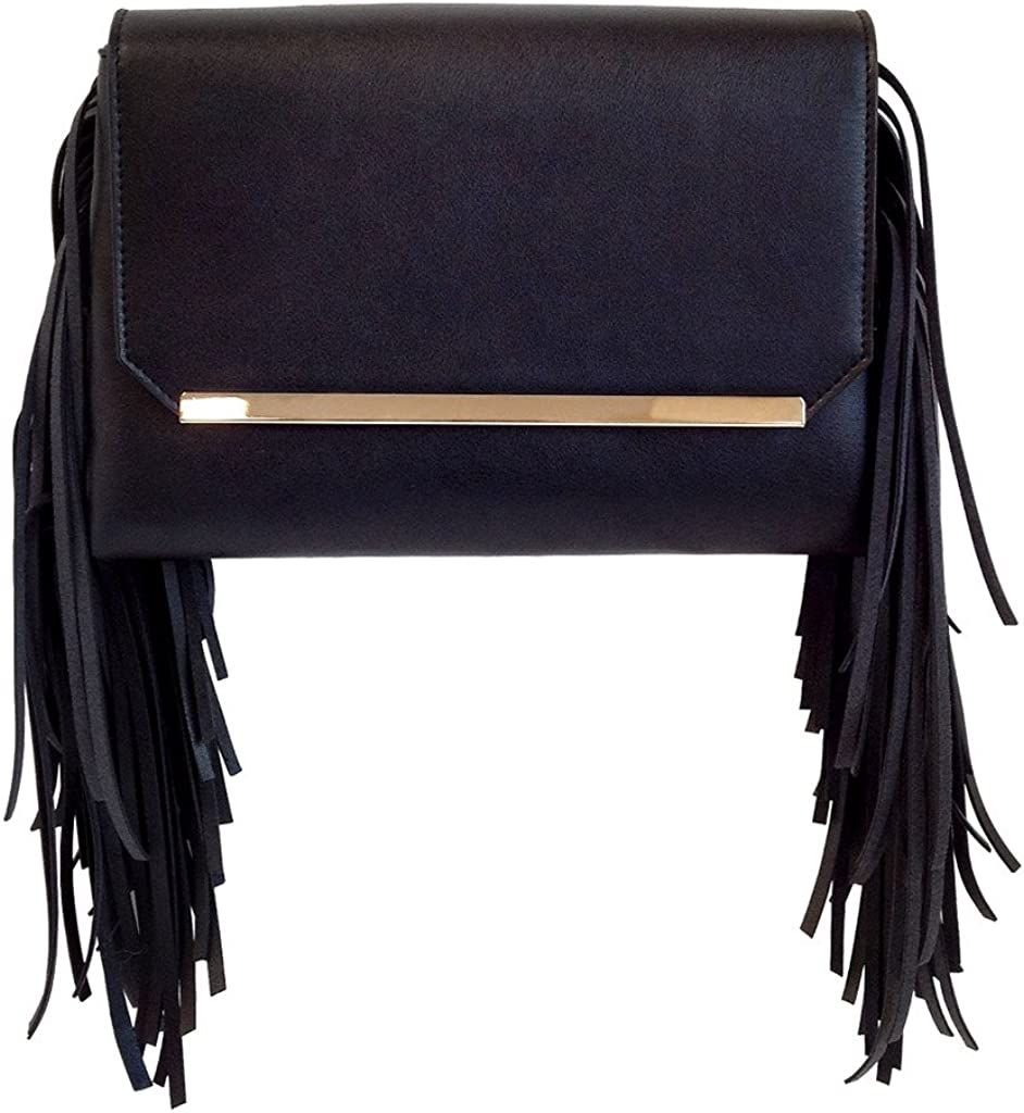 JNB Women's Manufacturer direct delivery Double Clutch Pocket Fringe Sale Special Price