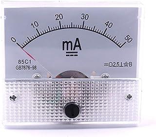 Atoplee 2pcs DC 0-50mA 85C1 Ampmeter Analog AMP Current Panel Meter Ammeter Gauge