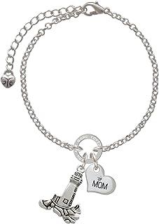 Silvertone Caduceus DO Grandma Infinity Toggle Chain Bracelet 8