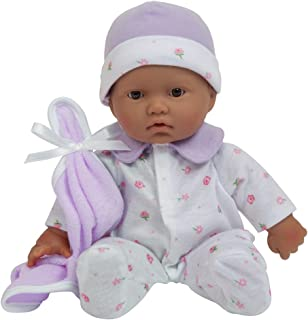 La Baby Boutique Hispanic 11 inch Small Soft Body Baby Doll dressed in Purple for..