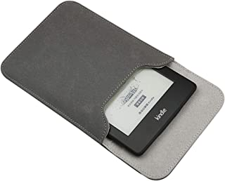 Emoly Leather Kindle Sleeve for Kindle Paperwhite 7'' E-Reader - Protective Insert Sleeve Case Cover Bag Fits Kindle Paper...