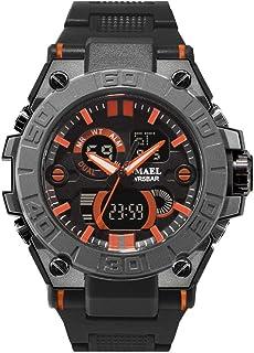 SMAEL Men's Sports Analog Quartz Watch,Dual Display Waterproof Digital Watches with LED Backlight relogio Masculino El Movimiento de Los relojes