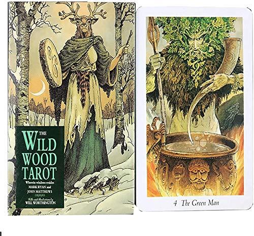 MAZ 78 Tarotkarten, The Wild Wood Tarot, Tischplattenspielkarte Spiele Für Family Party (English Edition)
