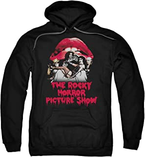 Rocky Horror Picture Show Casting Throne Adult Pull Over Hoodie Black