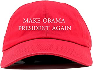 Make Obama President Again Dad Hat Baseball Cap Unstructured New - Red