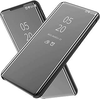 Wuzixi Case for Vivo NEX 3. Plating Ultra Slim Fit Mirror Makeup Plating Flip Case, Mirror Protective Case with Kickstand, phone case for Vivo NEX 3.Black