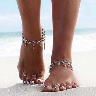 Jovono pendantes de plage Bracelet de cheville Pied Chaine de cheville pour les femmes et les filles