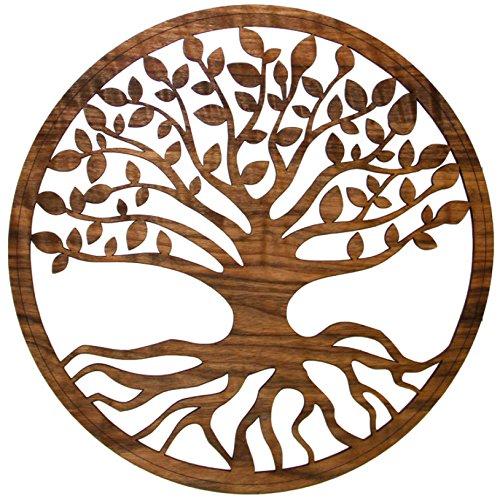 myZirbe Baum des Lebens, Wandbild, Nußholz, Größe:30cm