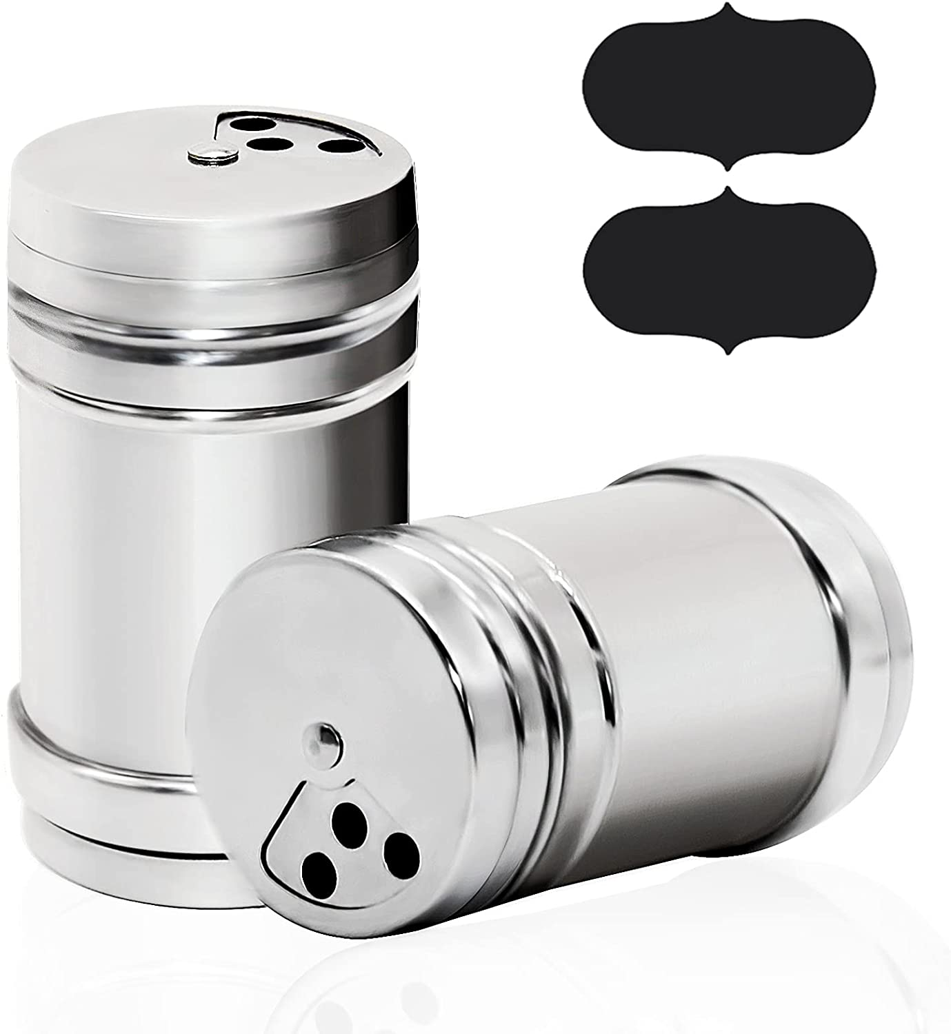 LZNBHH 2PCS Stainless Steel Pepper Dredges Salt Seasoni Shakers Fort Safety and trust Worth Mall