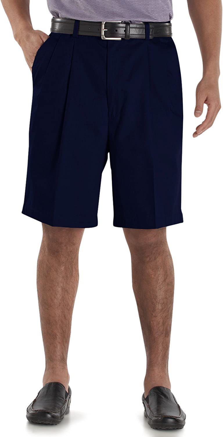 Cutter & Buck Big & Tall Signature Classic Easy-care Shorts Dark Navy 44B at  Men's Clothing store
