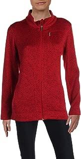 Womens Fleece Heathered Jacket Red S