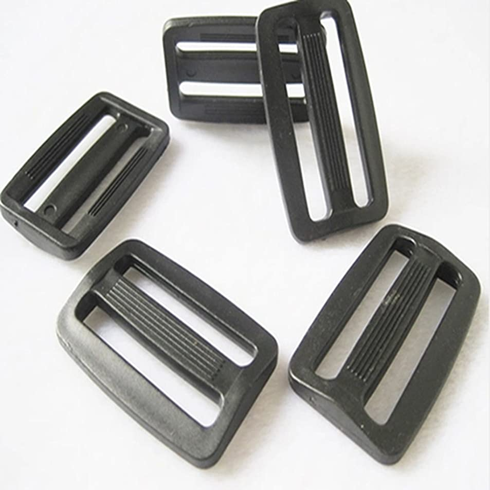 50pc Black Plastic Square Ring Buckle DIY Luggage Belt Shoe Doll Hat Slide Making Sewing Craft Inside Width 20mm 25mm (25mm) rtkbkqzj8438