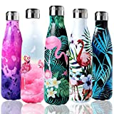 Shinemefly Bouteille d'eau Isotherme, Gourde INOX Thermos 500ml, Bouteille Thermos Réutilisable...