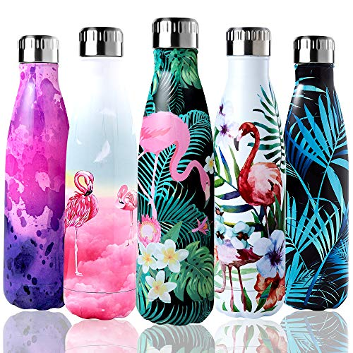 Shinemefly Bouteille d'eau Isotherme, Gourde INOX...