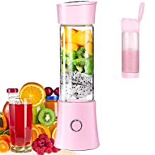 Portable Mini Blender, Juicer Blender Smoothie Maker with 3D 6 Blades ,USB Rechargeable Juice Mixer 100W 480ML, with 4000mAh Rechargeable Battery, Mini Personal Fruit Blender for Home,Office,Sports,Travel, Outdoors