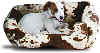 Rod's Plush Fleece Cow Print Dog Bed