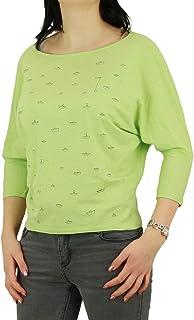 Greenbomb Frauen T-Shirt Animal Koala oliv gestreift Damen Tshirt