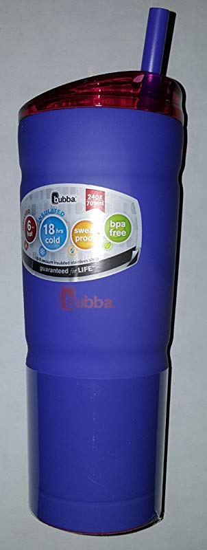Bubba Envy 24oz 18 8 Vacuum Insulated Stainless Steel Envy S Matte Vineyard Purple With Luau Pink Lid Vineyard PP Straw