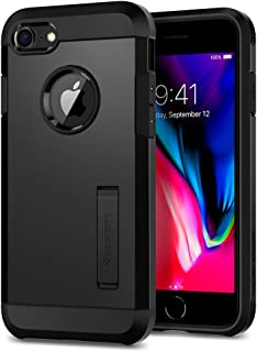 Spigen Tough Armor [2nd Generation] iPhone 8 Case/iPhone 7 Case with Kickstand and Heavy Duty Protection and Air Cushion Technology for Apple iPhone 8 (2017)/iPhone 7 (2016) - Black