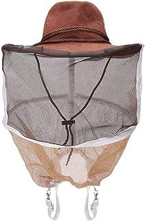 養蜂家の帽子、厚く 養蜂家のカウボーイハット蜂昆虫ネットベールヘッドプロテクター養蜂キャップ養蜂用品