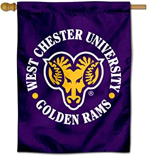 College Flags and Banners Co. West Chester Golden Rams Double Sided House Flag